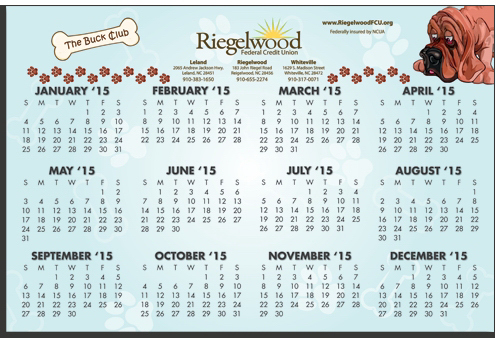 "Imprinted W-1218R Calendar Card with Repositionable Strip 12"" x 18"""