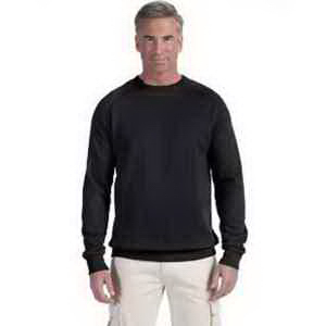 Econscious 7oz Organic/Recycled Heathered Fleece Raglan Crew