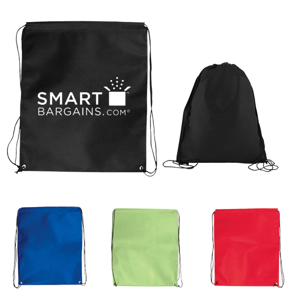 Jumbo Nonwoven Drawstring Cinch-Up Backpack