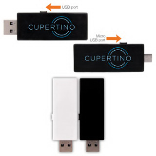 Cupertino 2GB USB and Micro USB Flash Drive