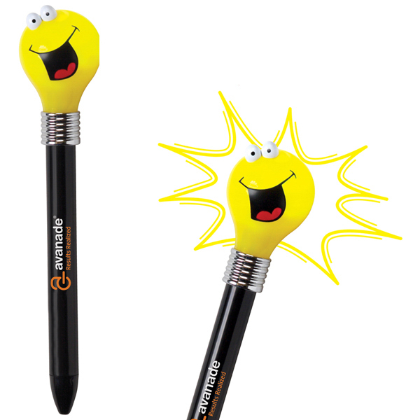 Imprinted Goofy Light Bulb Pen