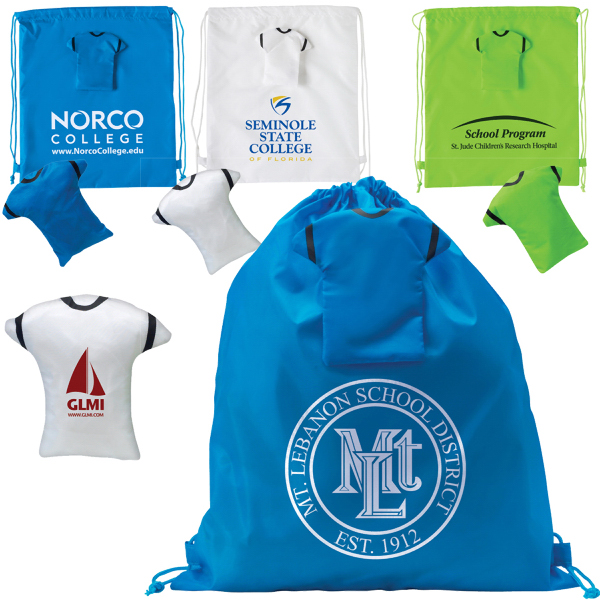 Imprinted Drawstring T-Shirt Backpack