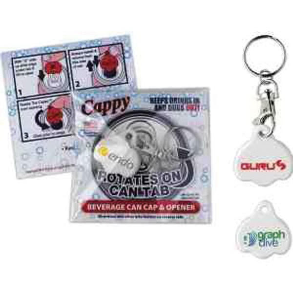 Promotional Cappy Beverage Cap with Key Tag