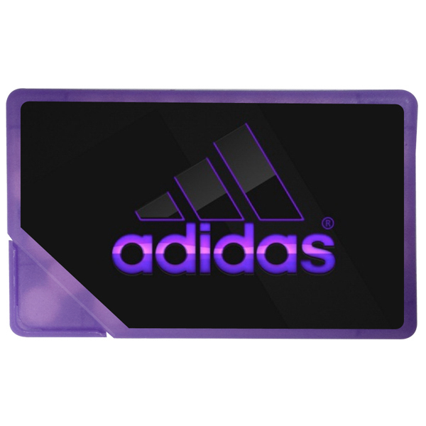 Mints in Purple Credit Card Shaped Pocket Dispenser