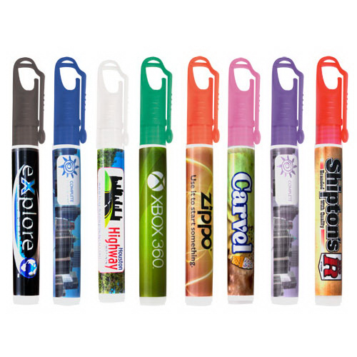 10ml Pocket hand sanitizer spray with carabiner clip cap