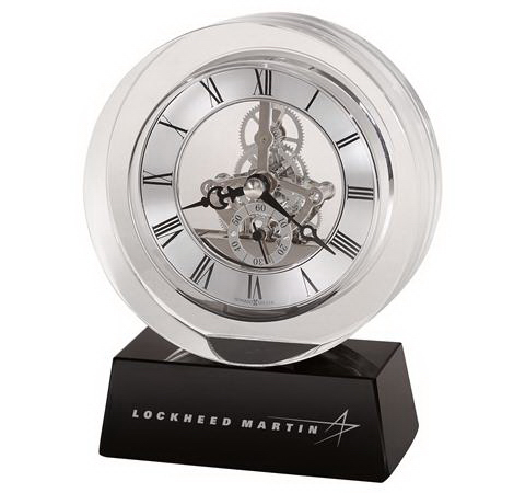 Fusion crystal award clock