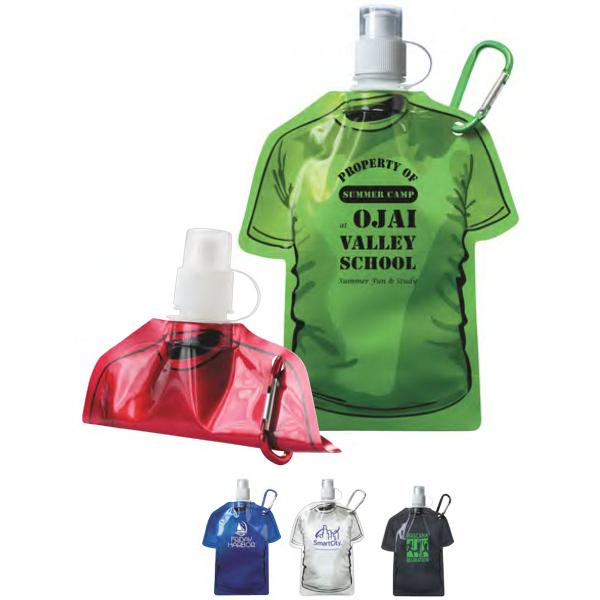 Printed T-Shirt Shaped Collapsible Water Bottle