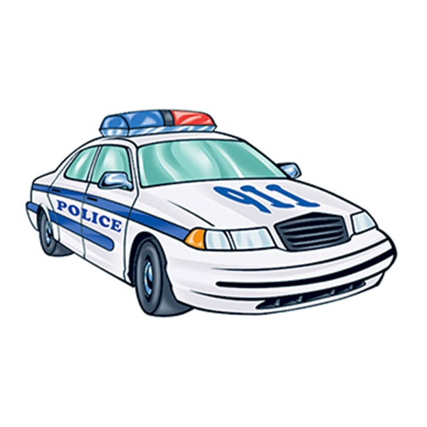 Police Car Temporary Tattoo