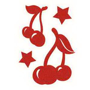 Skin Sugar: Red Cherries with Stars Temporary Tattoo
