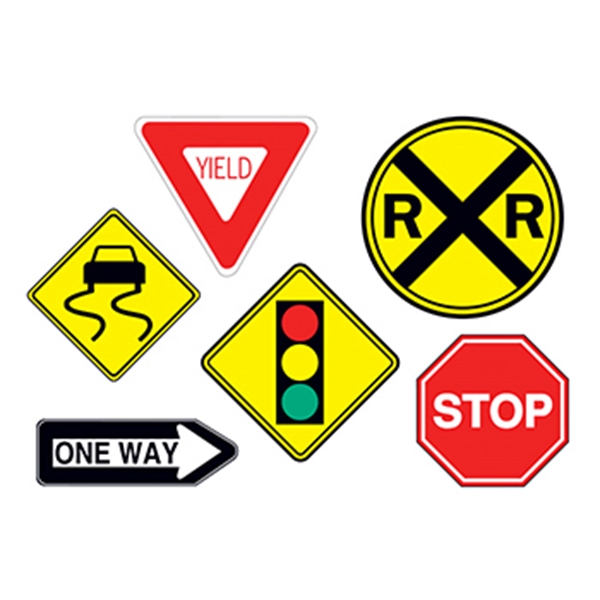 Traffic Signs Temporary Tattoo