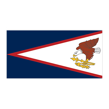 Flag of American Samoa Temporary Tattoo
