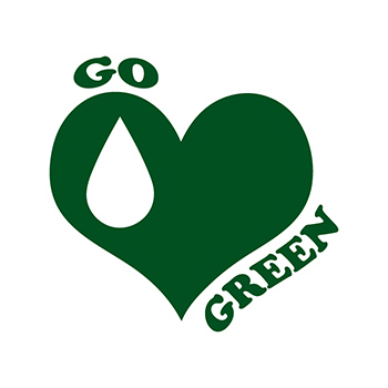 Go Green Water Temporary Tattoo