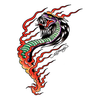 Ed Hardy Cobra Temporary Tattoo