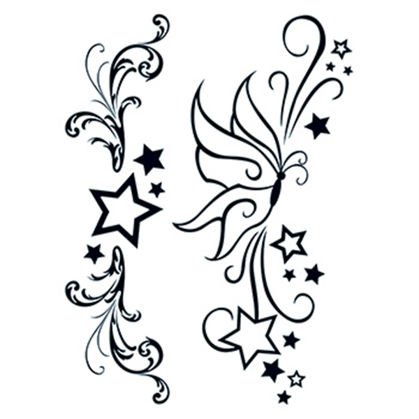 Fashion: Modern Stars & Butterfly Temporary Tattoos