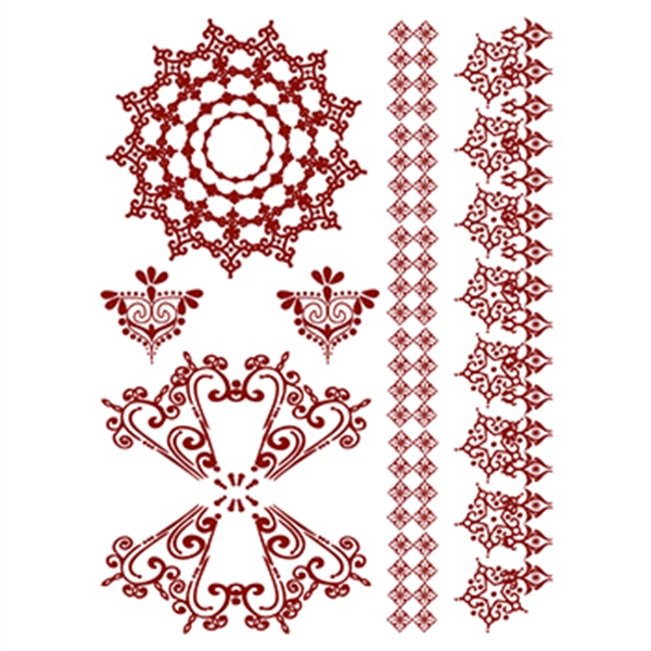 Henna amazon temporary tattoo set usimprints for Fake tattoos amazon