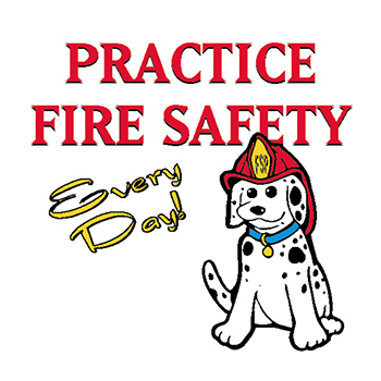 Fire Safety Every Day Temporary Tattoo