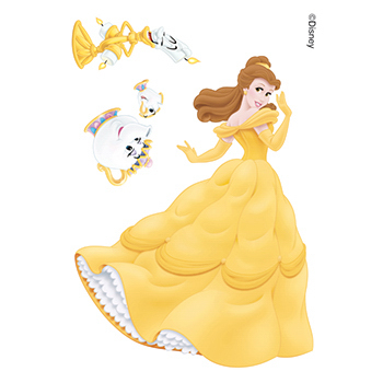 Beauty and the Beast: Belle and Friends Temporary Tattoos