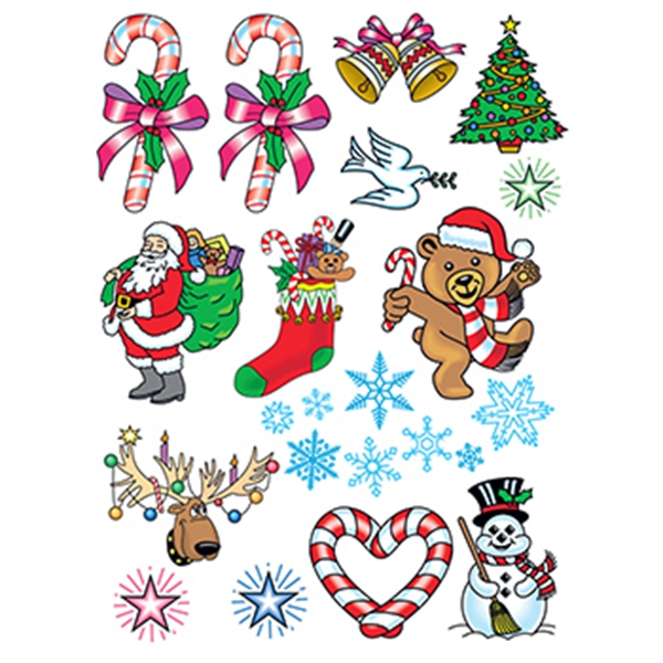 Christmas Spirit Set of Temporary Tattoos