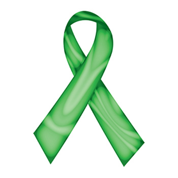 Swirl Green Awareness Ribbon Temporary Tattoo