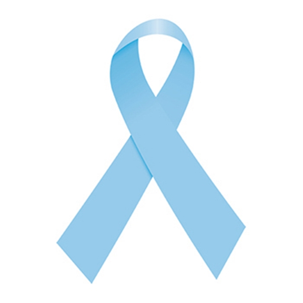 Light Blue Awareness Ribbon Temporary Tattoo
