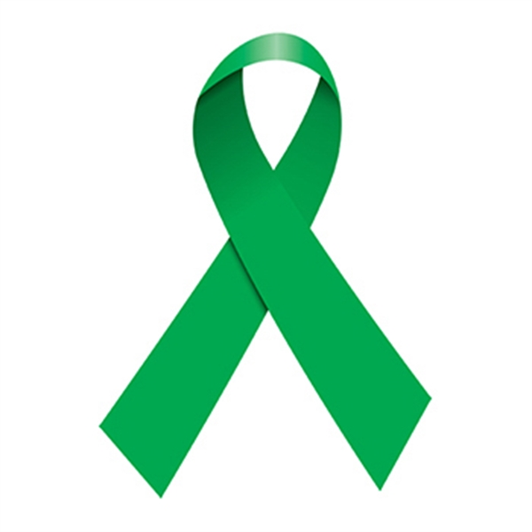 Green Awareness Ribbon Temporary Tattoo