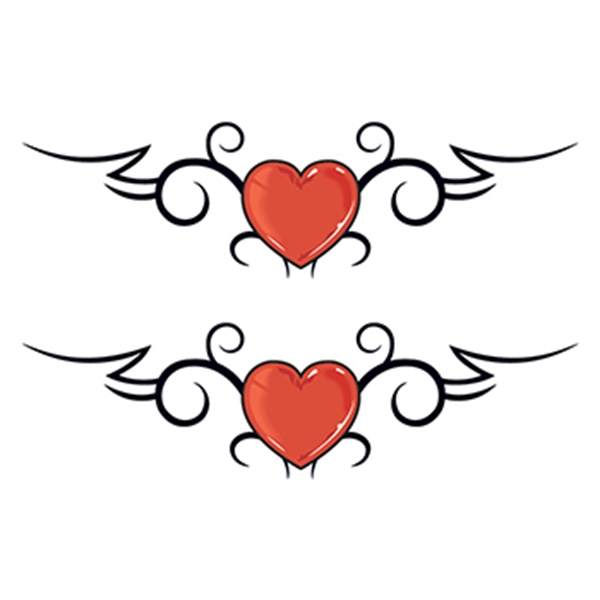 Hearts with Wings Temporary Tattoo
