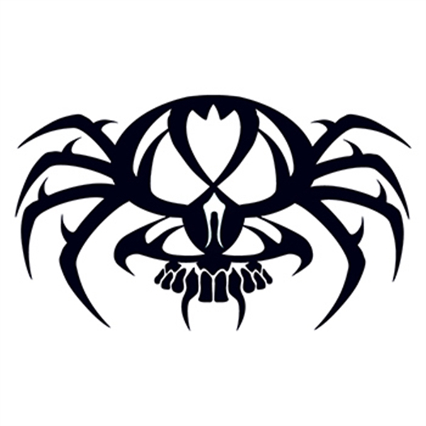 Tribal Spider And Skull Tattoo