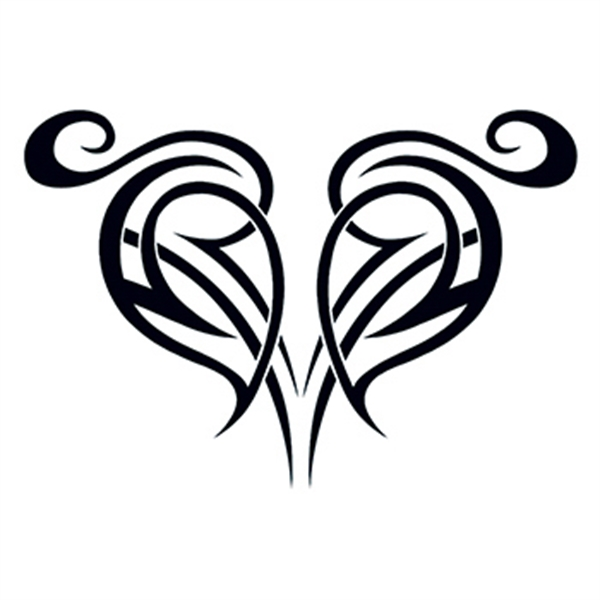Heart with Mom Banner Temporary Tattoo - USimprints