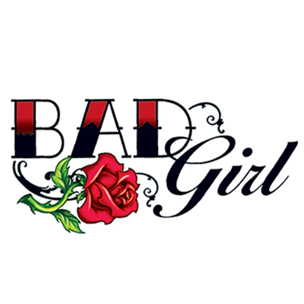 Bad girl rose temporary tattoo usimprints for Vulgar temporary tattoos