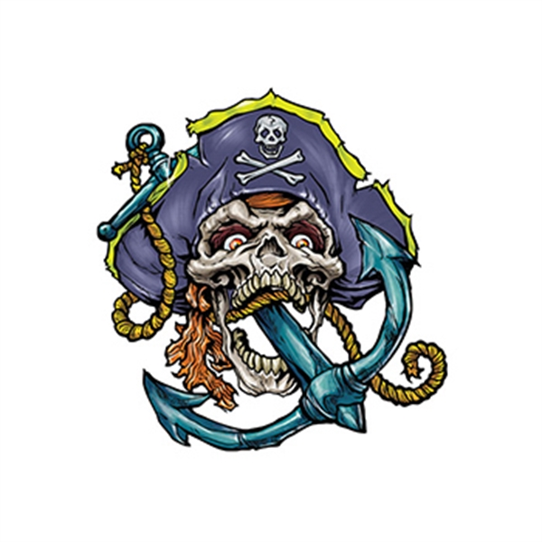Pirate Skull and Anchor Temporary Tattoo