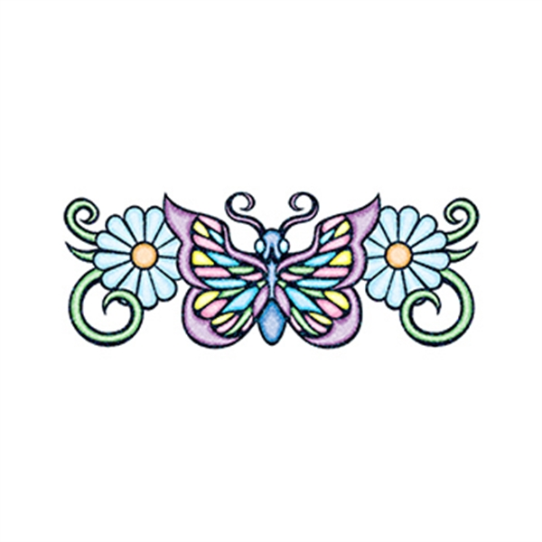Glitter Pastel Butterfly Temporary Tattoos