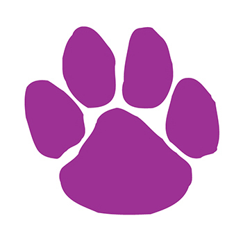 Purple Paw Print Temporary Tattoo