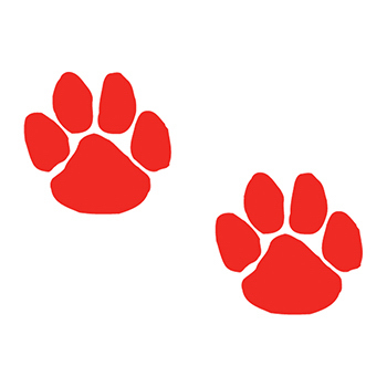Two Red Paws Temporary Tattoo