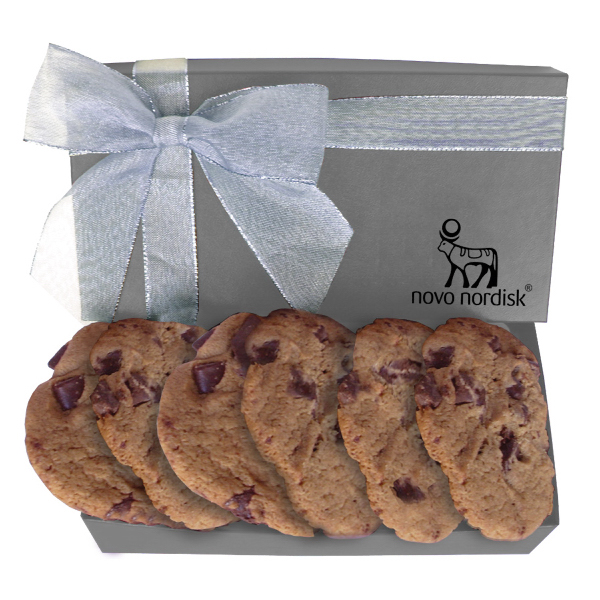 Printed AZGB2 The Executive Cookie Box with Chocolate Chip Cookies