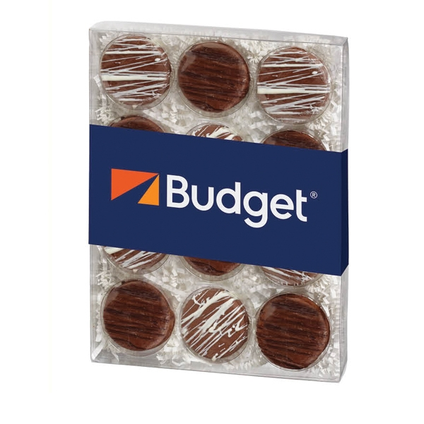 12 Pack Elegant Chocolate Covered Oreo (R) Gift Box
