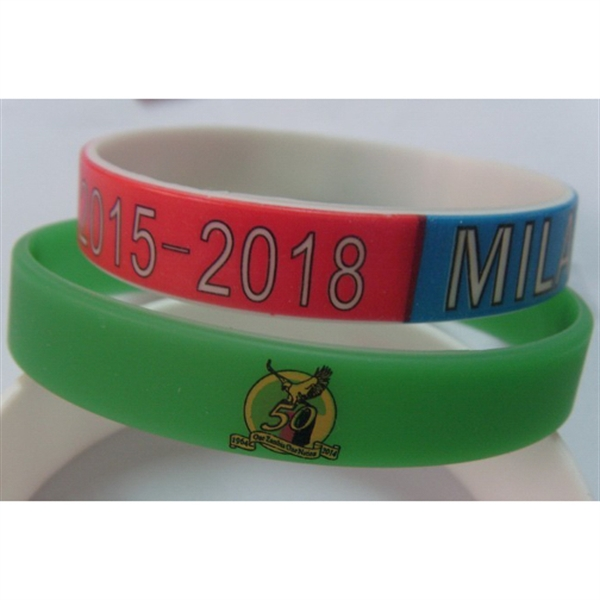Promotional 100% Silicone Bracelets FULL COLOR
