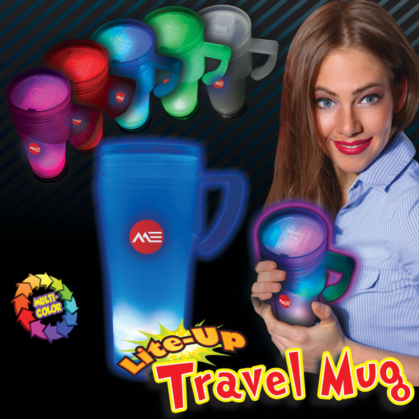 Customized Light Up Travel Mug