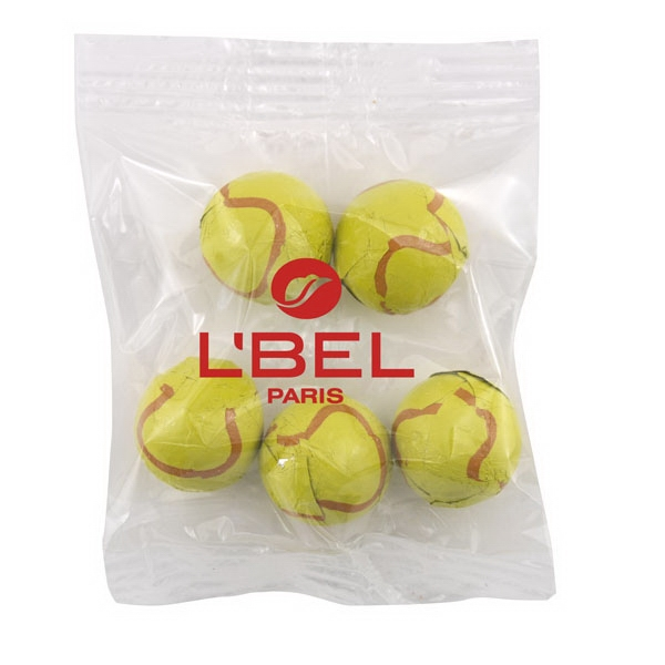 Bountiful Bag Promo Pack with Chocolate Tennis Balls Candy