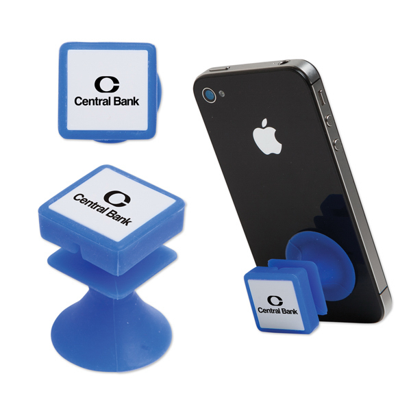 Suction Cup Phone Stand and Cord Wrap