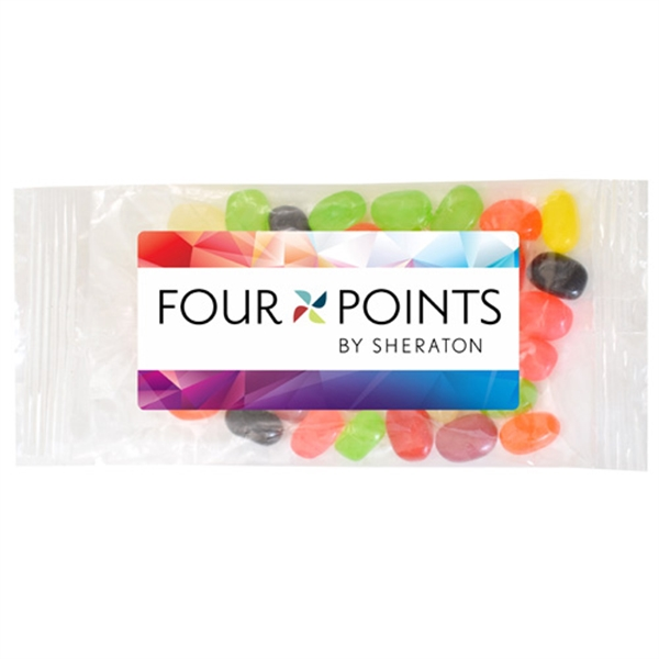 Large Bountiful Bag Full Color Label with Jelly Beans Candy