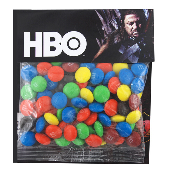 Large Billboard Full Color Header Candy Bag- with M&M's