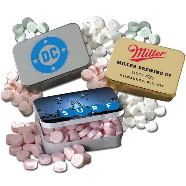 Wintergreen Mints in Large Hinged Lozenge Tin