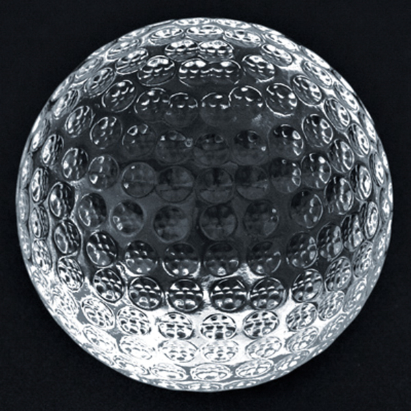 Customized Crystal Sport Paperweight (Golf)