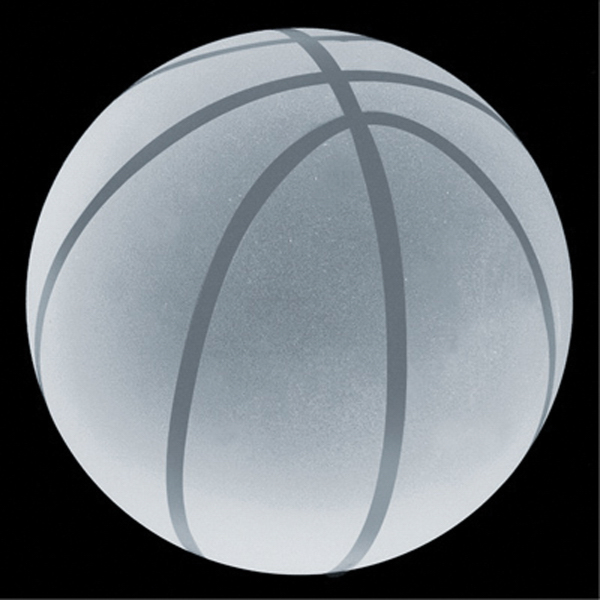 Custom Crystal Sport Paperweight (Basketball)
