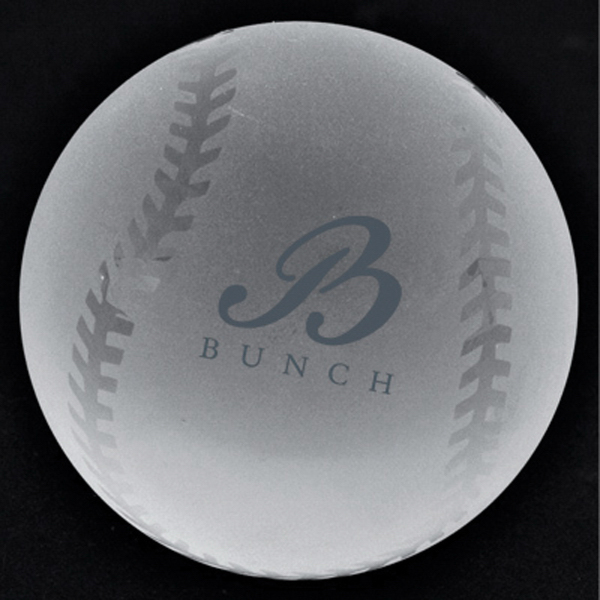 Promotional Crystal Sport Paperweight (Baseball)
