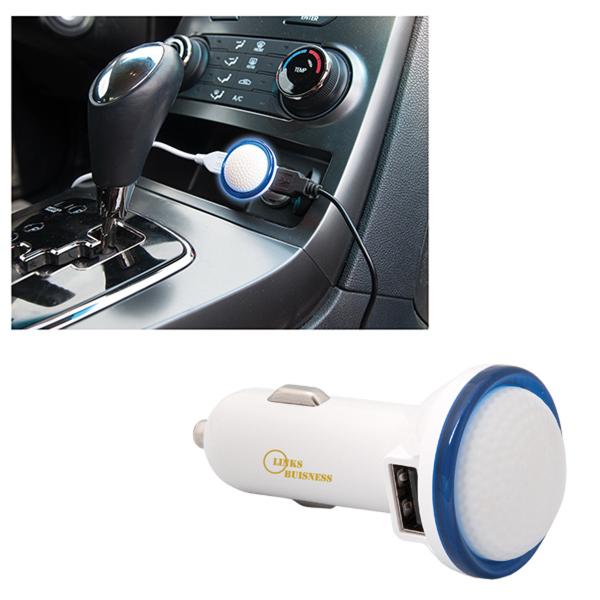 GOLF DESIGN POWER DUAL PORT USB CAR CHARGER