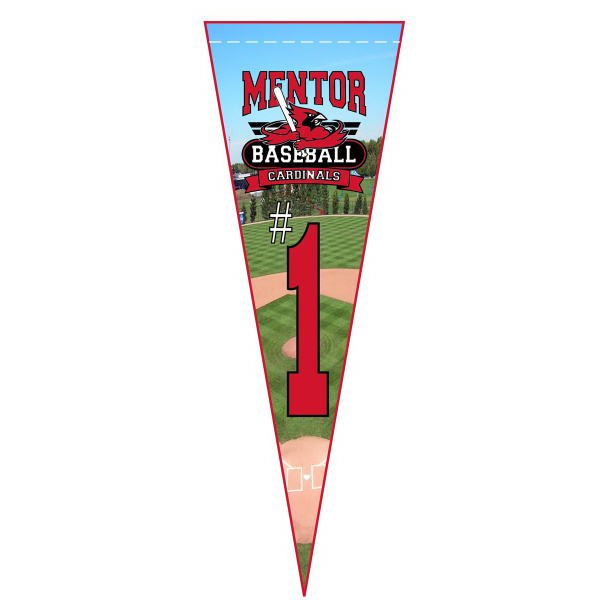 "26"" Felt Pennant with Full-color printing"
