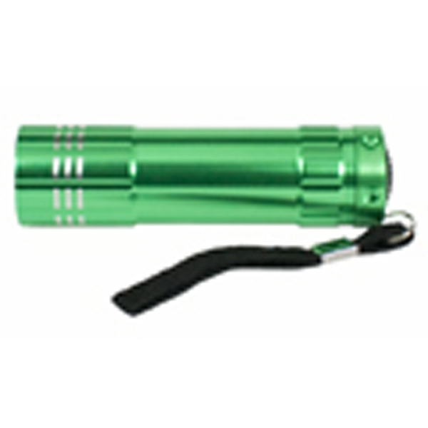 Jewel Aluminum Torch with Nine LED Array and Lanyard
