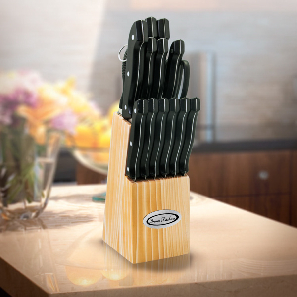 Customized 15 pc Knife Block Set