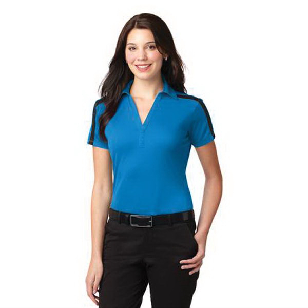 Ladies' Silk Touch (TM) Performance Colorblock Stripe Polo